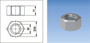 Hexagon Nut - 732 - Eurofix