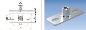 Base Plates With Combi-nut - 782 - Eurofix